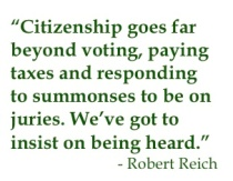 Citizenship goes far beyond voting